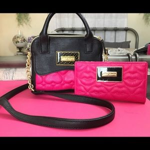 Handbags - Betsy Johnson purse and matching wallet